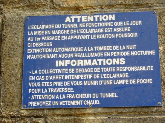 éclairage des tunnels