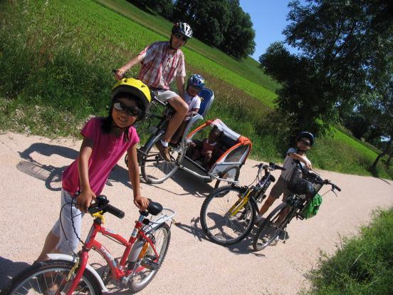 En famille à vélo !