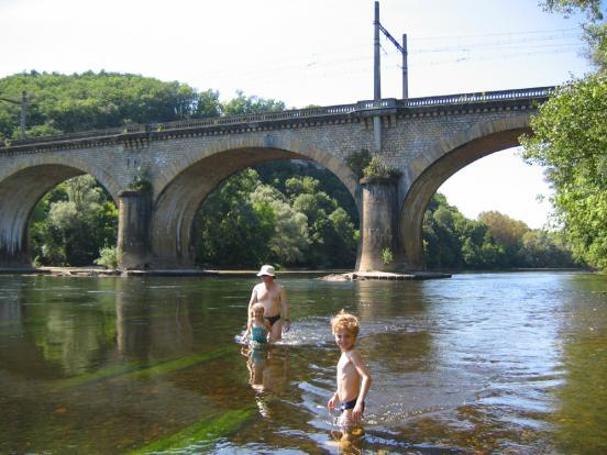 Nage dans La Dordogne
