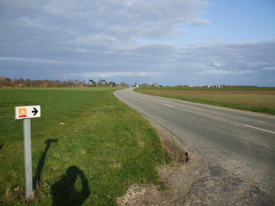 Panneau vélo route