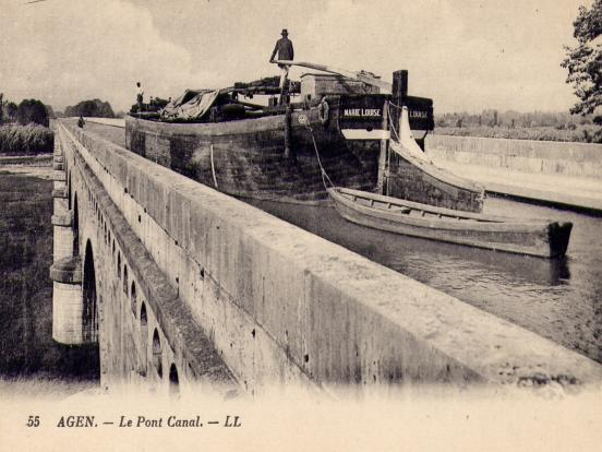 Pont-canal vers 1930