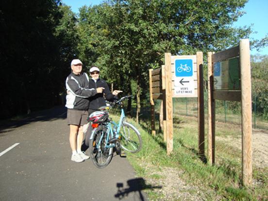 départ piste cyclable
