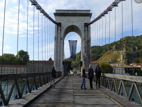 Pont suspendu de Tain