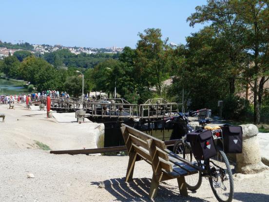 A vélo à Fonsérannes