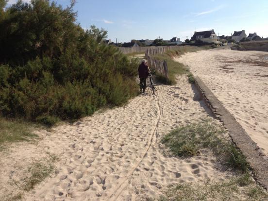 Passage dans le sable