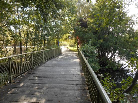 pont à lattes début canal