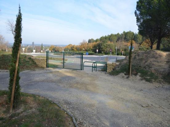 accès Nord-Est au site