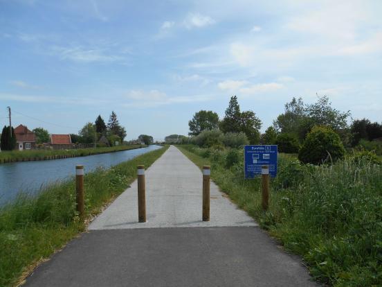 Vers St-Venant, après le pont mobile