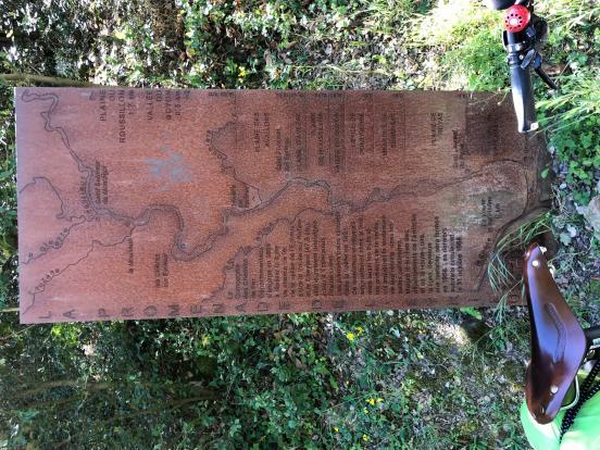 Pancarte sur l'Eyrieux
