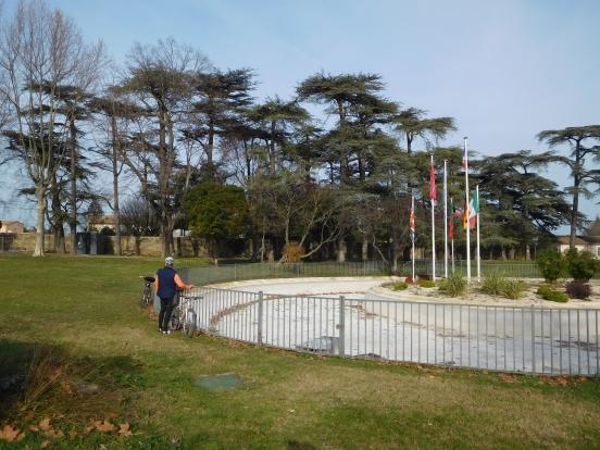 parc municipal  à Pont