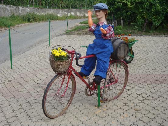 Drôle de cycliste !