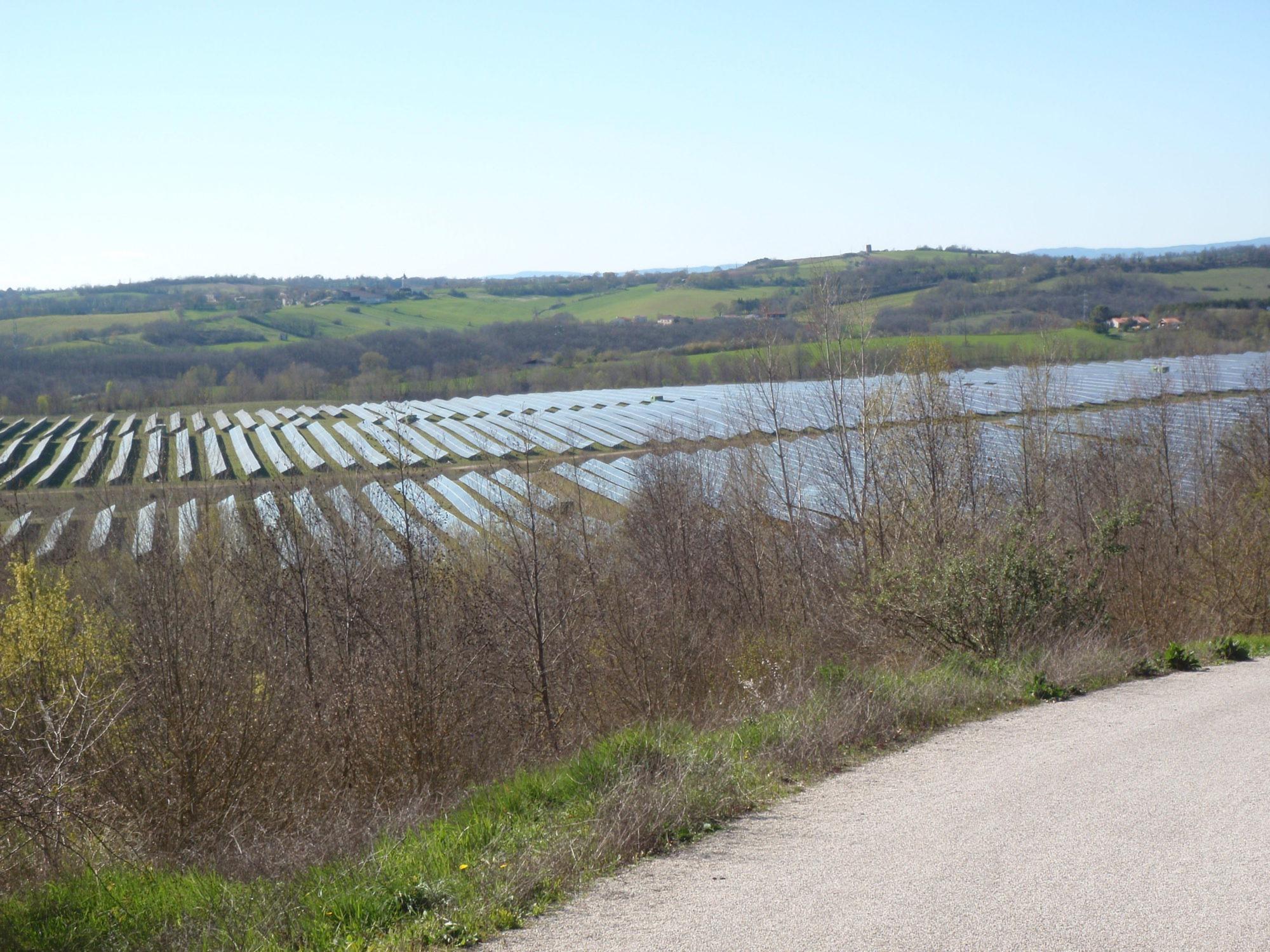 Parc photovoltaïque-vue