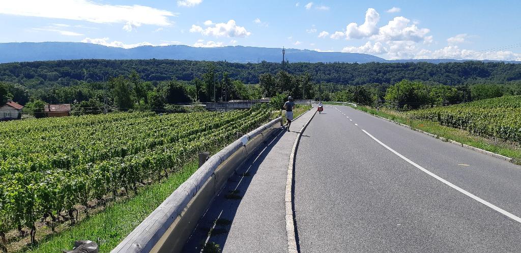 Dure rampe route de Verbois