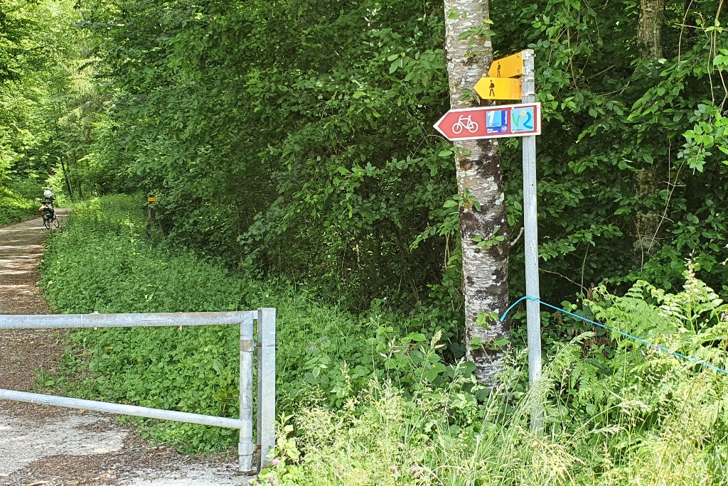Chemin vers Vaux à Chancy (CH)